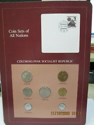 Czechoslovak  Set In Franklin Mint Coins Of All Nations Card. 7pc. 1974-83