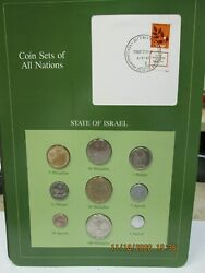 Israel Set In Franklin Mint Coins Of All Nations Card 9pc.