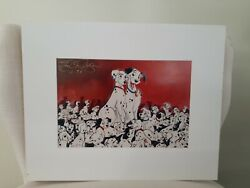Disney's 101 Dalmations Signed Lithograph By Eric Robison 1996 Rare