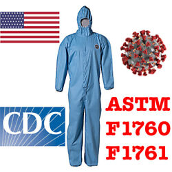 25x Dupont Protective Coverall Ppe Tyvek Hazmat Bunny Suit Astm F1670 F1671