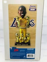 Magic Johnson Los Angeles Lakers 5x Nba Champion Bobblehead In His Warm-up Suit