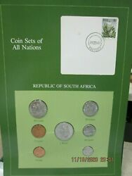 South Africa Set In Franklin Mint Coins Of All Nations Card 7pc. 1983-4