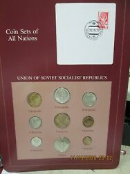 Ussr Set In Franklin Mint Coins Of All Nations Card 9pc. 1978