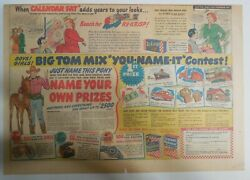 Ralston Cereal Ad Tom Mix Name Your Prize Prizes 1948 Size11 X 15 Inches