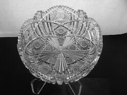 American Brilliant Cut Glass 1-1 Rated Libbey Wedgemere Bowl Extremely Fine