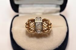 Antique Victorian 18k Gold Natural Old Cut Diamond Amazing Ring