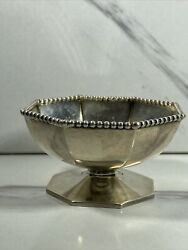 Vintage Sterling Silver J.e. Caldwell Open Salt Cellar 2.5and039and039 7yo Art Deco