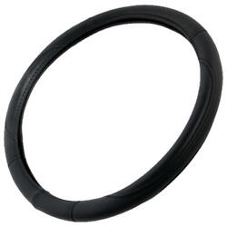 Leather Performance Grip Steering Wheel Cover Non Slip Universal Size 14.5-15.5