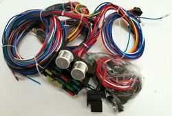 12 Circuit Wiring Harness Wire Kit Street Rod Chevy 32 Ford No Headlight Plugs