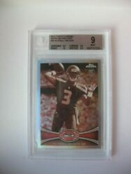 2012 Topps Chrome Russell Wilson Sepia Rookie Refractor /99 Bgs Mint .5 From Gem