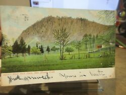 Vintage Old Connecticut Postcard New Haven West Rock Park Outcropping Mountain