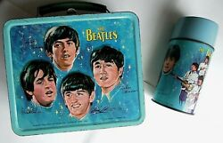 The Beatles Original 1965 Lunch Box And Thermos Flask - Nice Condition
