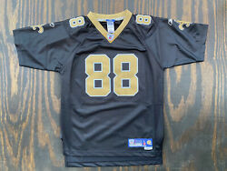 Authentic Nfl New Orleans Saints Shockey 88 Embroidered Jersey Football Sz L +2