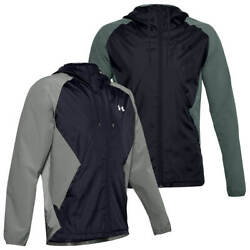 Under Armour Mens Stretch-woven Hooded Wind Resistant Jacket 34 Off Rrp