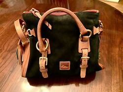 Dooney amp; Bourke Satchel Black Suede New W Tags Never Used $120.00