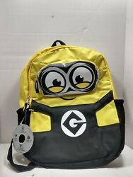 Minions It#x27;s Bob 16quot; Backpack Kid Book Bag Illumination Officially Licensed NEW $15.99