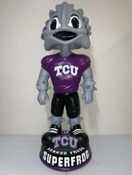Super Frog Mascot Tcu Horned Frogs 36 Bobblehead 3 Foot Tall Edition New D/12