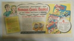 Wheaties Cereal Ad Fawcett Golden Age Comic Books 1940's Size 7.5 X 15 Inches