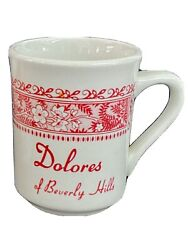 Vintage1981 Collectibledolores Of Beverly Hillstwo Coffee Cup Mugsmint