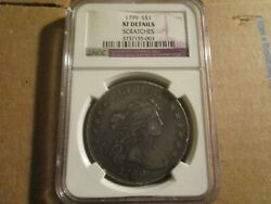 1799 Ngc Xf Details Liberty Draped Bust Silver Dollar Certified 7 X 6 Stars