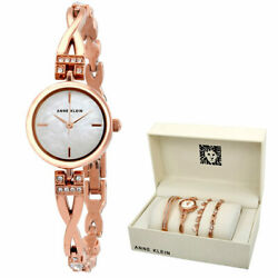 Anne Klein Dress Watch Rose Gold Bracelets Parts And Accessories Japanese Quarts