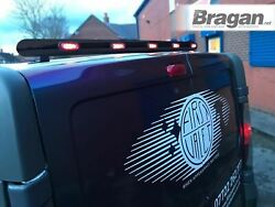 To Fit Iveco Daily 14+ Stainless Black Rear Roof Bar + Multi-function Led Lights