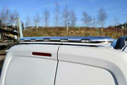 To Fit 2007-2016 Citroen Dispatch Stainless Rear Roof Bar + Multi Function Leds