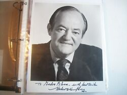 Autographed 8x10 Picture ---hubert H. Humphrey-38th Vice President 1965-69