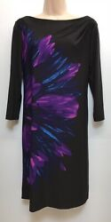 Maggy L. 3/4 Sleeves Floral Dress Women's 6 - Superb