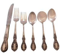 American Beauty By Manchester Sterling Silver Flatware Set For 8 Service 56 Pcs
