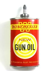 Vintage Winchester Gun Oil Lead Top 3 Oz. Can Yellow Band W