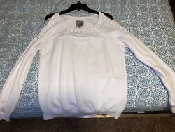 White cold shoulder Guess $10.00