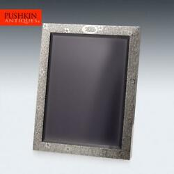 Antique 20thc And Co Solid Silver Large Photo Frame C.1908