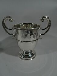 Edwardian Trophy Cup - Antique Classical Urn - Irish Sterling Silver - 1906