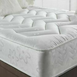 10 Deep Quilted Orthopedic Sprung Mattress 3ft 4ft 4ft6 Double 5ft King Uk