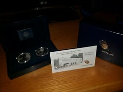 2013 American Eagle West Point Two 2 Coin Silver Set Coa Box Papers Us Dollar