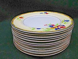12 Lot Of Bread And Butter Johnson Brothers Pareek Watteau 6-3/16 Dishes