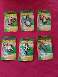 1990and039s Vtg Disney Jungle Book Set Of 6 Pin Badges By Dufort And Sons Uk Rare