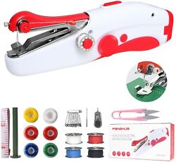 Portable Stitch Sew Hand Held Sewing Fabric Machine Quick Handy Cordless Repair