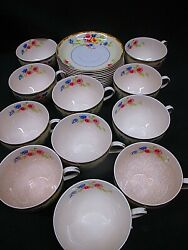 11 Lot Of Rare Vintage Johnson Brothers Pareek Watteau Cups And Saucers