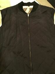 Loro Piana Black Quilted Nylon Cashmere Blend Lining Menandrsquos Vest New