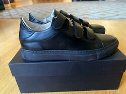 STELE Black Women#x27;s leather Sneakers sz 38 Italian $100.00