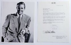 William Holden -document Signed 11/12/1956 Co-signed By Mary Davis
