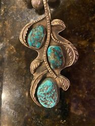 Vintage Navajo Sterling Silver Turquoise