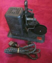 Vtg. Lindstrom Toy 16mm Movie Film Projector - Rare Motorized Version - As Is