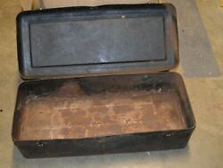 Pressed Steel 1910-1920and039s Antique Car Automobile Metal Running Board Tool Box