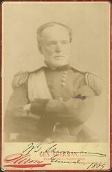 General William Tecumseh Sherman Signed Autographed T Cabinet Card Photograph