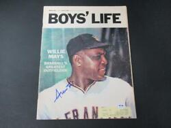 Willie Mays Signed March 1966 Boys' Life Magazine Autograph Auto Psa/dna Ah96134