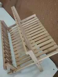 Threshold Bamboo Drying Rack Natural Finish Folds Flat For Storage A305