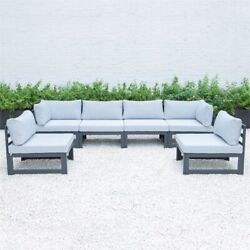 Leisuremod Chelsea 6-piece Sectional With Cushions In Light Grey